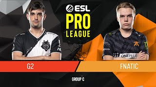 CS:GO - Fnatic vs. G2 Esports [Inferno] Map 2 - Group C - ESL Pro League Season 9 Europe