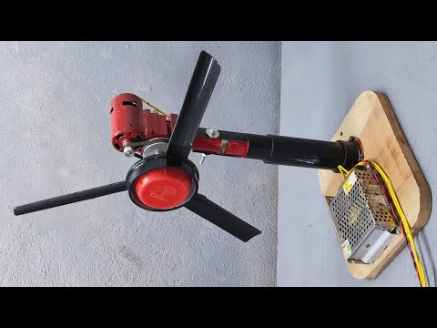 Homemade Wall Mounted Fan Using Brushless Motor