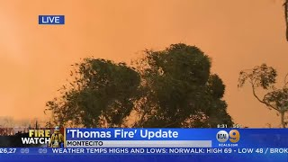 New Evacuations As Thomas Fire Spreads, No Relief In Sight thumbnail