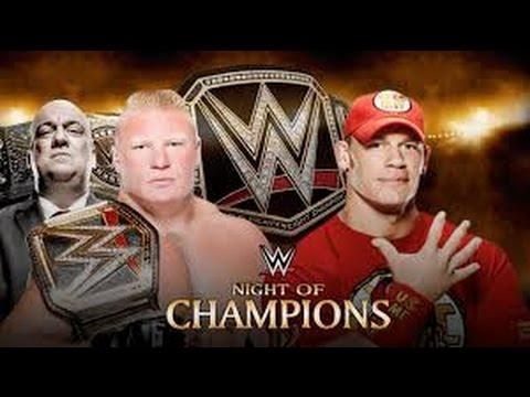 John Cena vs Brock Lesnar l Night of...