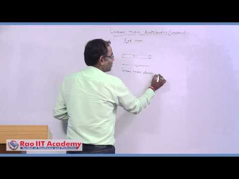 Gravitational Force & Intensity for Distributed Mass System - IIT JEE  Physics Video Lecture
