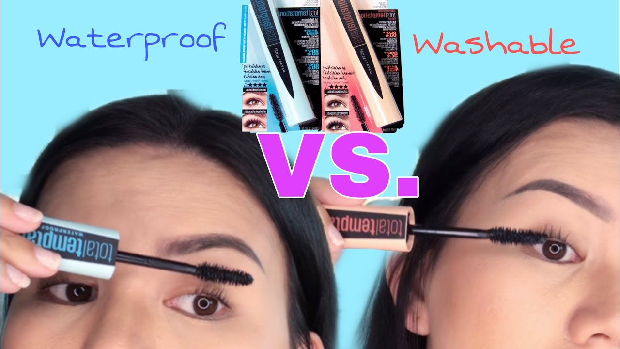 d6f8f71a9ab Maybelline Total Temptation Mascara | Total Temptation Mascara Waterproof  VS. Washable