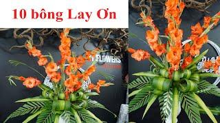 Download lagu Hướng Dẫn cắm bình hoa Lay Ơn chỉ 10 bông đơn giản đẹp   Hoa Bàn Thờ