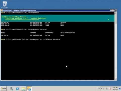 Exchange PowerShell Script: Get-MailboxReport.ps1 Demonstration