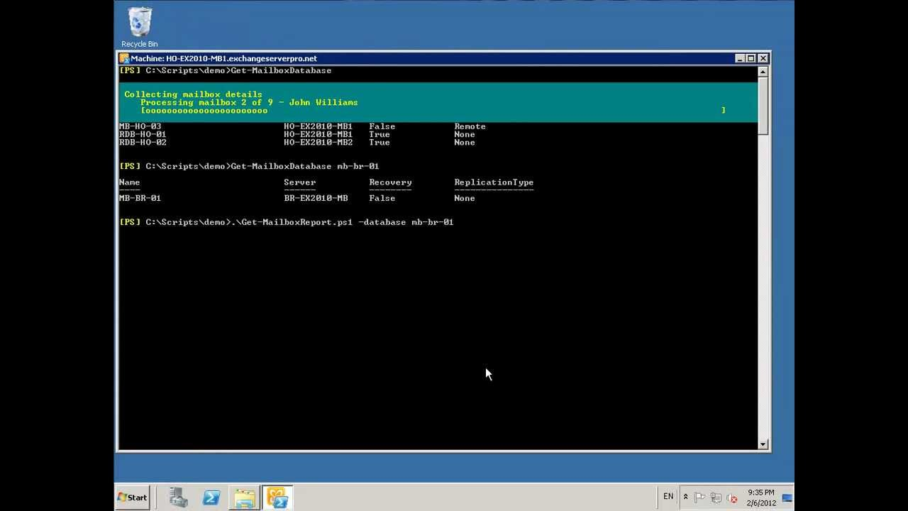 execute exchange powershell script from c#
