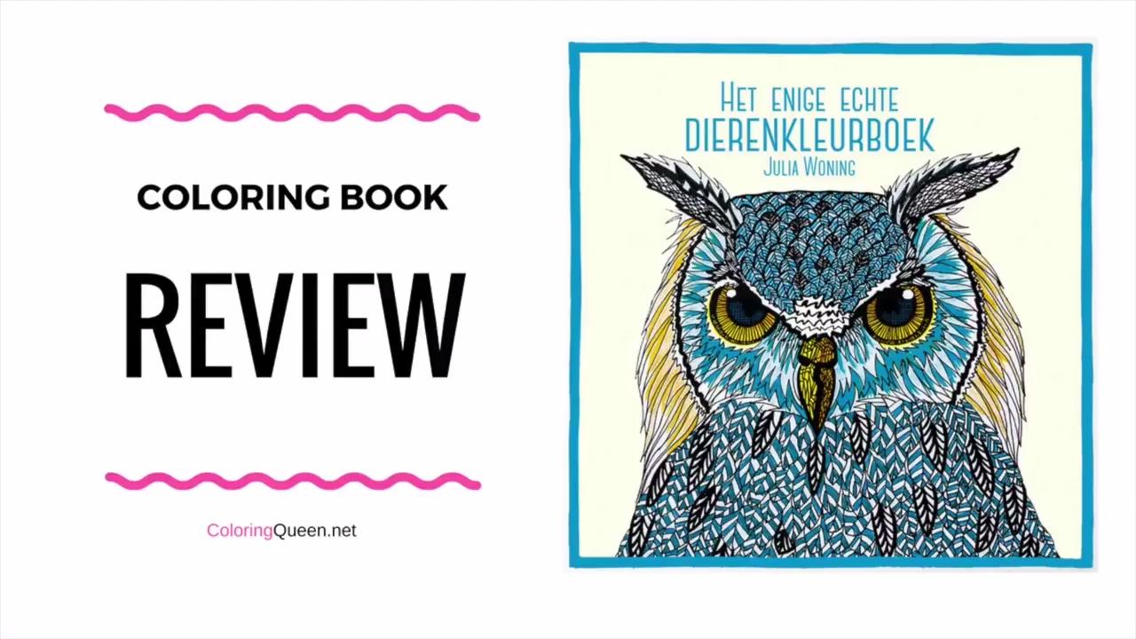 Het Enige Echte Dierenkleurboek Coloring Book Review