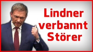 Christian Lindner verbannt Störer und erntet Beifall - Rhetorik Analyse