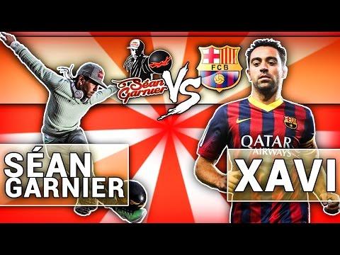 I Challenge Xavi (Barcelona Legende) / @seanfreestyle