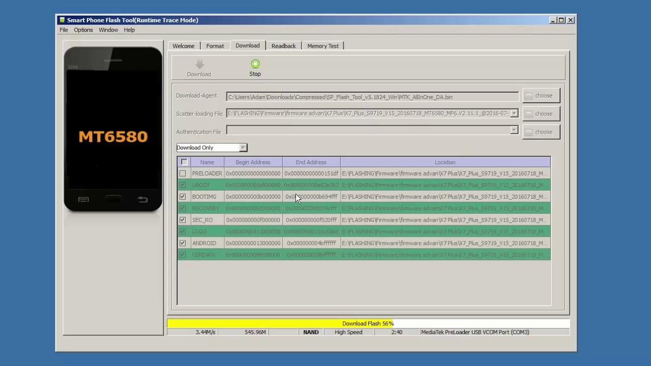 advan_x7_plus_s9719_v15 firmware