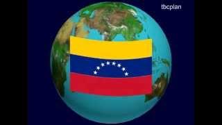 Venezuela Flag on the Earth