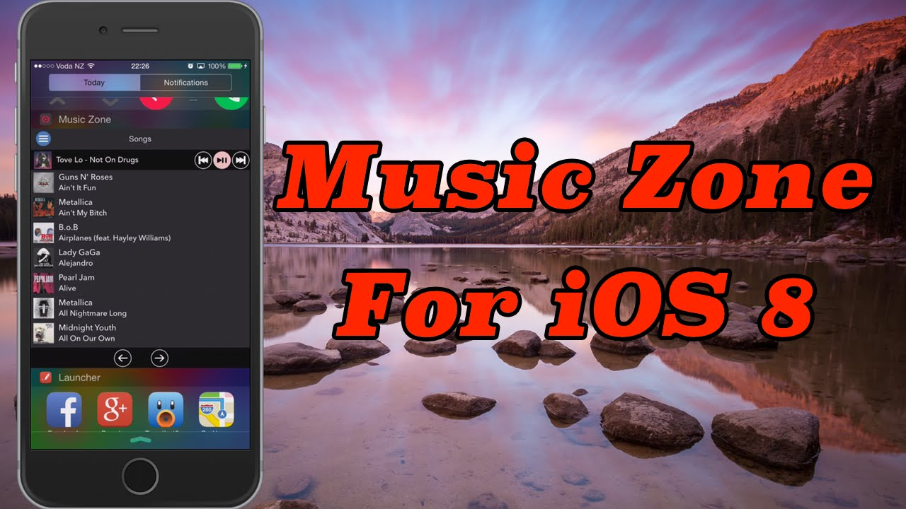The BEST music Widget: Music Zone for iOS 8