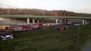Groźny wypadek na S3 koło Skwierzyny. Sześć osób poszkodowanych