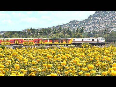 Bangalore - Chennai Trains | Countryside beauty | INDIAN RAILWAY Trains.