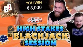 High Stakes Blackjack Session - Winning Big With Momentum Strategy
