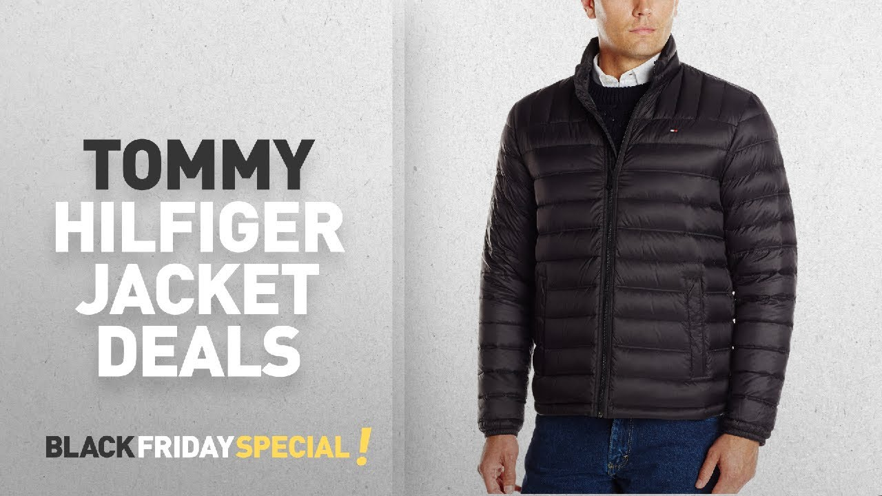 022702474 Top Black Friday Tommy Hilfiger Jacket Deals: Tommy Hilfiger Men's Packable  Down Jacket, Black,