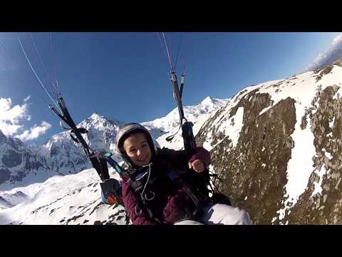 9 Year Old Paragliding Charmonix
