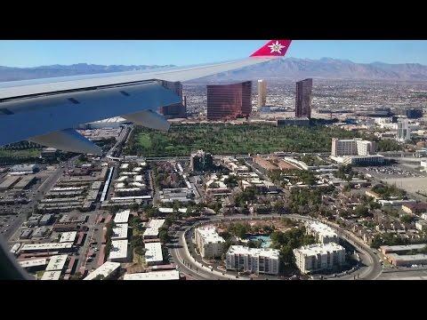 Landing in Las Vegas, Nevada in an Edelweiss Air Airbus Industrie A330-300