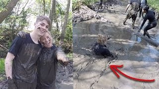 The hardest challenge of my life! GETTING DROWNED AND SWIMMING THROUGH MUD!😱!