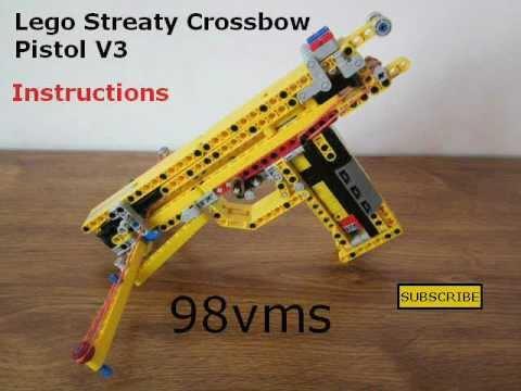 Lego Streaty Crossbow Pistol V3 Instructions - YouTube
