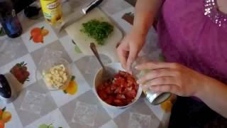 Салат из помидор Черри и Кус Кус