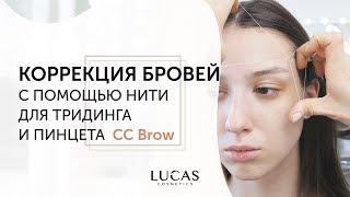 Оформление бровей. Коррекция бровей нитью и пинцетом CC BROW (тридинг от Lucas Cosmetics).