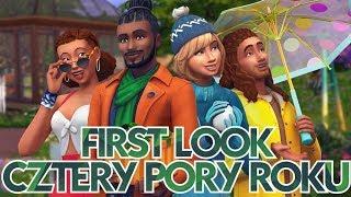 First Look I The Sims 4 CZTERY PORY ROKU - Pioruny, zamiecie śnieżne, bara bara w liściach, Wigilia