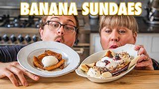 Homemade Banana Sundaes Feat. My Mom