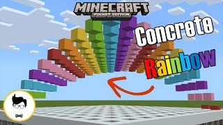 Minecraft PE CONCRETE RAINBOW WAVE MACHINE! (PE/Xbox/Windows10/Switch)