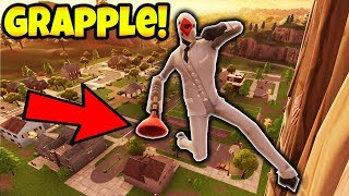 *NEW BEST* GUN IN THE GAME!!! (Fortnite Grappler Gameplay)