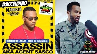 ASSASSIN AKA AGENT SASCO VIDEO - Agent Sasco @ Casalabate 2016 - Reggae.Today