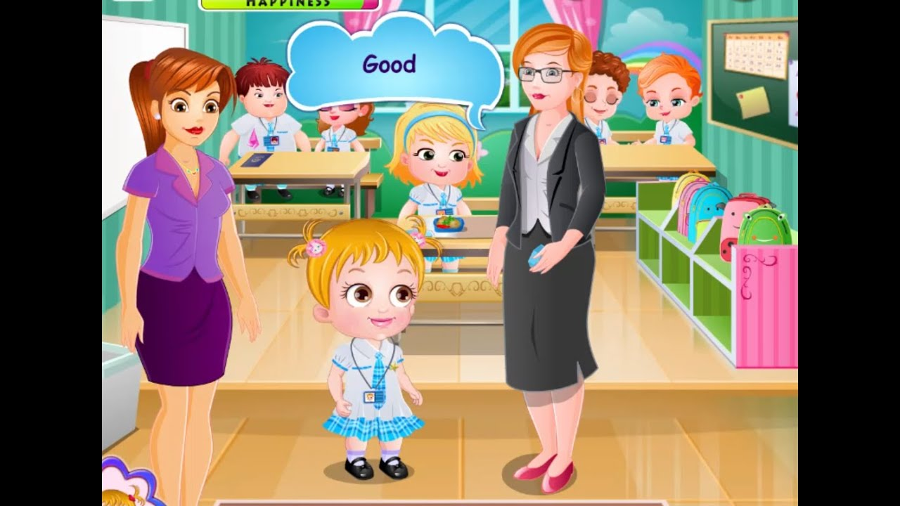 Baby Go To School Game - Play online at Y8.com