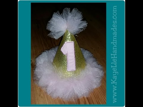 DIY - How to make Birthday Hat (Glitter and Tutu Inspired)