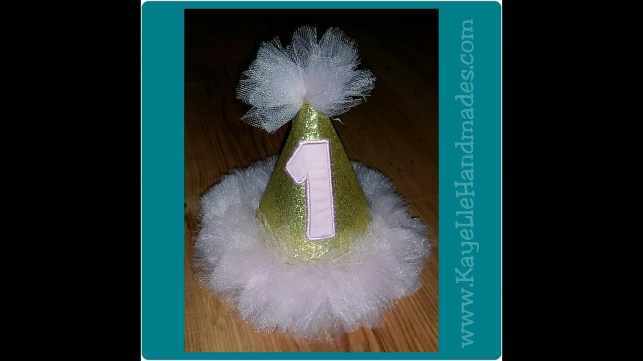 How To Make Birthday Hat (Glitter And Tutu Inspired