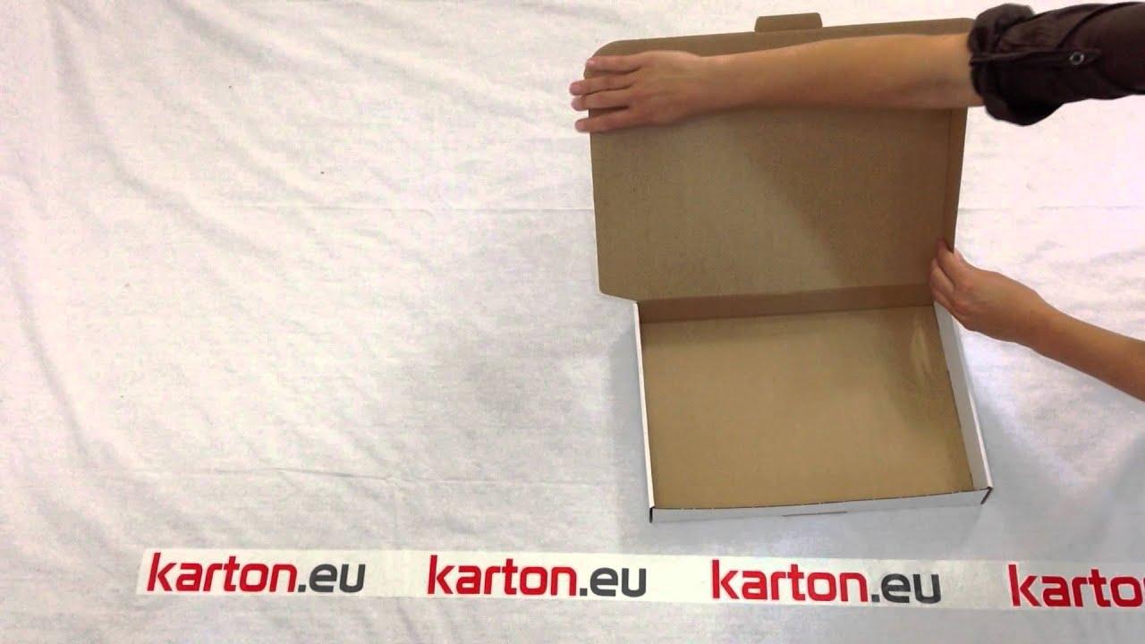 aufbauanleitung maxibrief karton 350x250x50 mm von youtube. Black Bedroom Furniture Sets. Home Design Ideas