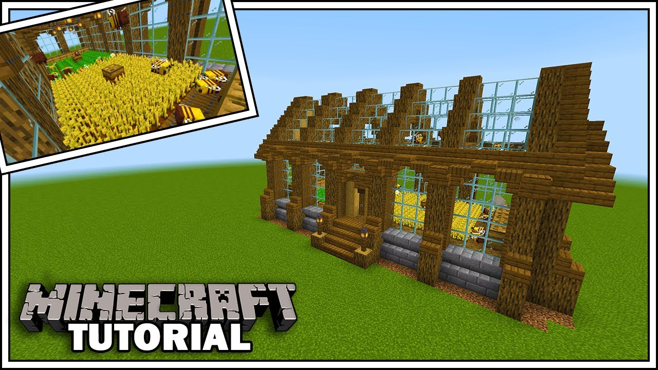 Simple Bee Powered Crop Farm Tutorial Minecraft 1 15 YouTube