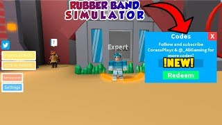[NEW] CODIGOS para RUBBER BAND SIMULATOR | Roblox