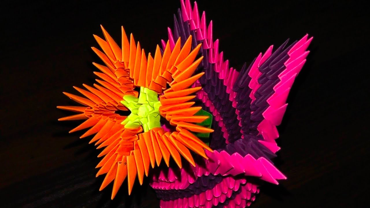 3d origami flowers flower a master class for beginners youtube mightylinksfo Gallery