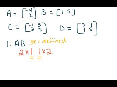 Matrix 06 - Defined vs. Undefined Multiplication