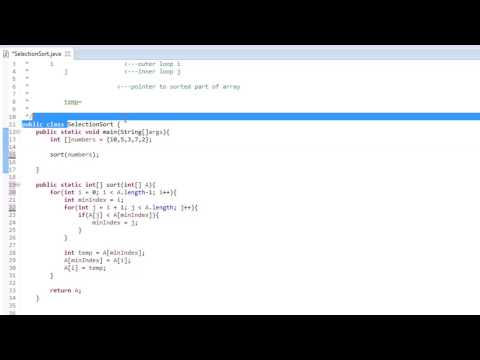 Java Algorithm - Selection Sort