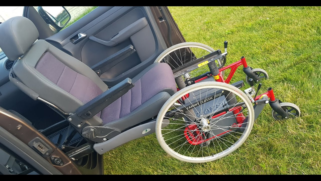 Wheelchair transfer to car seat - Autoadapt Turny Orbit BEV seat installed in VW