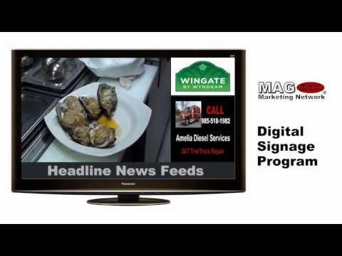 MAG Marketing Network Broadcasting Network | Digital Signage Program