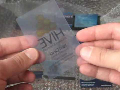 Clear, frosty and translucent plastic business cards - YouTube