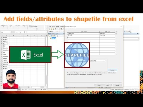 ArcMap Add Fields Attributes To Feature Class From EXCEL File