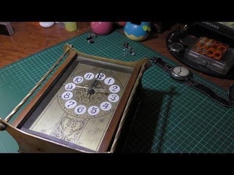 Часы Янтарь СССР, электромеханические,  настольные, ремонт.