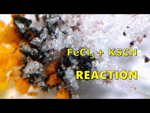 Iron III Chloride Reaction With Potassium Thiocyanate (FeCl3 + KSCN)