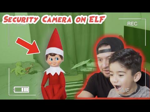 Security cameras catch Elf on a Shelf moving