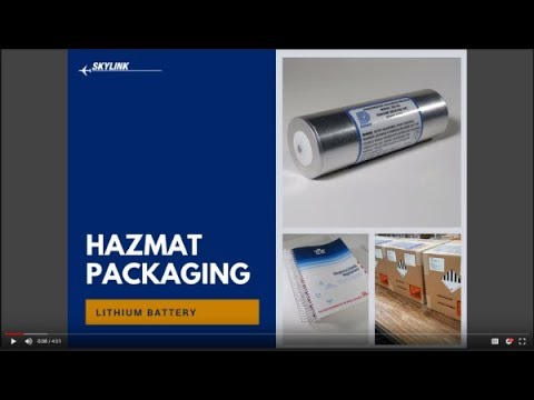 HAZMAT Guidelines For Safely Packaging Lithium Batteries