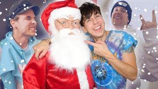 HIDDEN SANTA CHRISTMAS PRANK ON BEST FRIENDS!! 4K