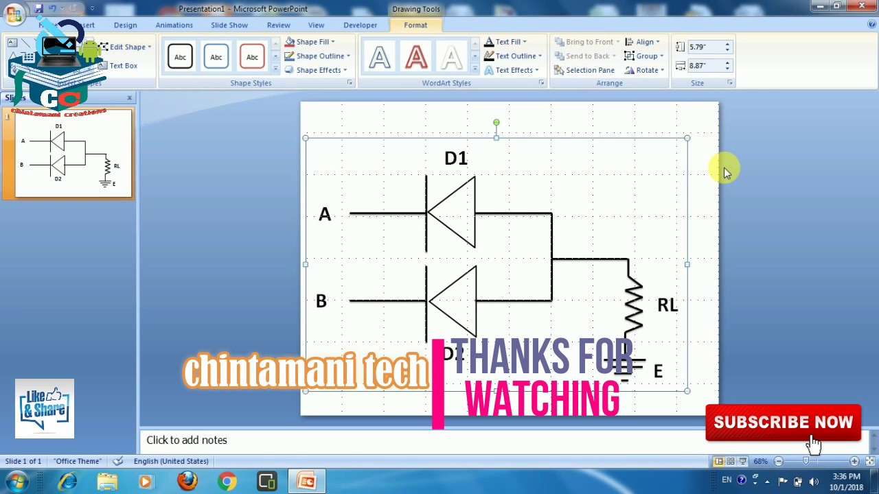 How To Draw Cct Diagram By Using Power Point