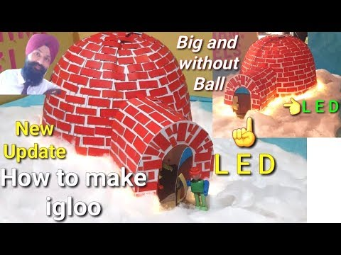 igloo model for school project   igloo model making ideas   igloo making with cotton and paper
